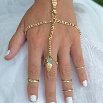 Vivian hand piece gold