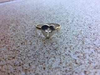 Faith sterling silver ring size 7
