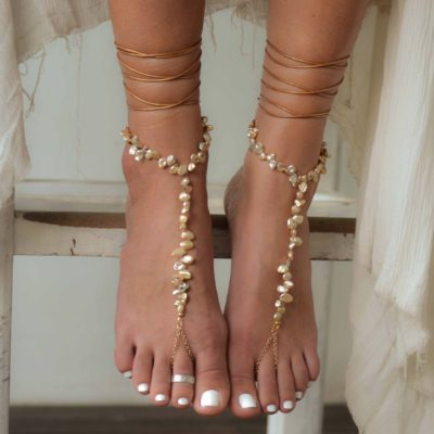 Ariel foot piece gold