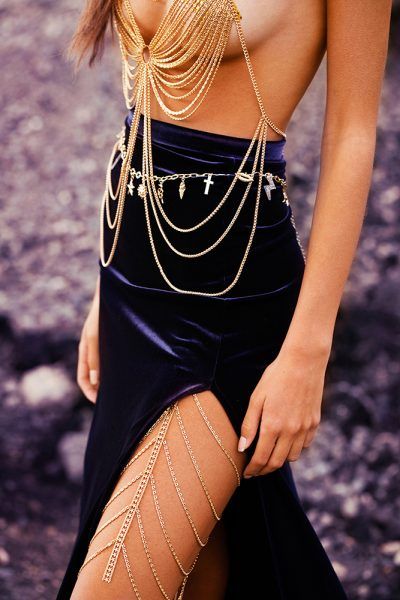 Gold Long Leg Chain