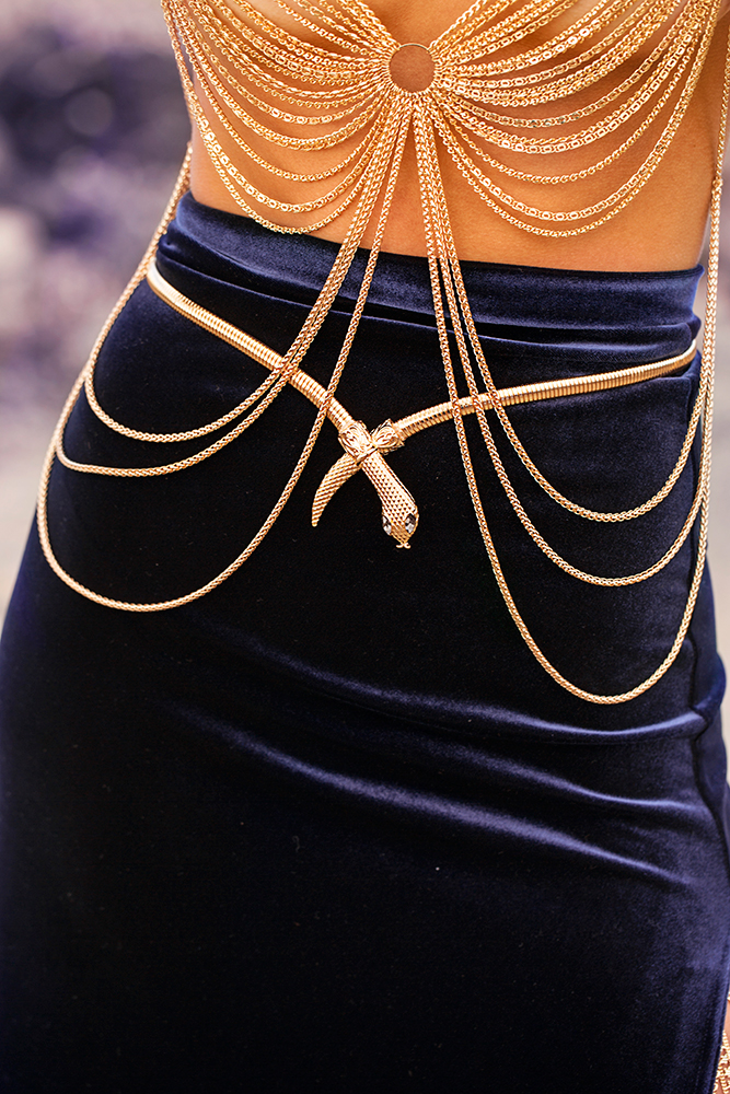 Gold Snake Belt Jewelry