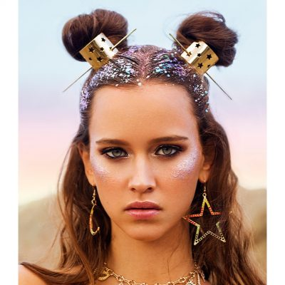 Festival Gold Star Hairpins