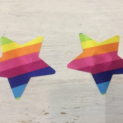 Rainbow Stars Nipple Cover